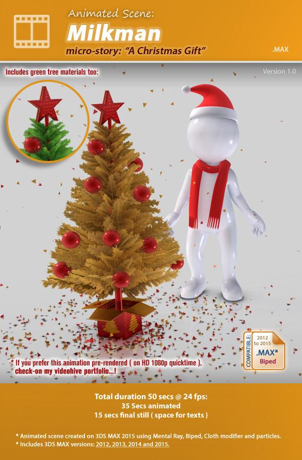 3DOcean Animated Scene Milkman A Christmas Gift 9702475
