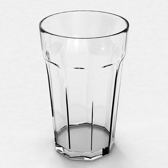 Glass Low Poly 3D Model with TurboSmooth
