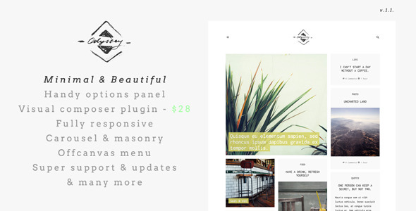 Odyssey Light Responsive WordPress Blog Theme