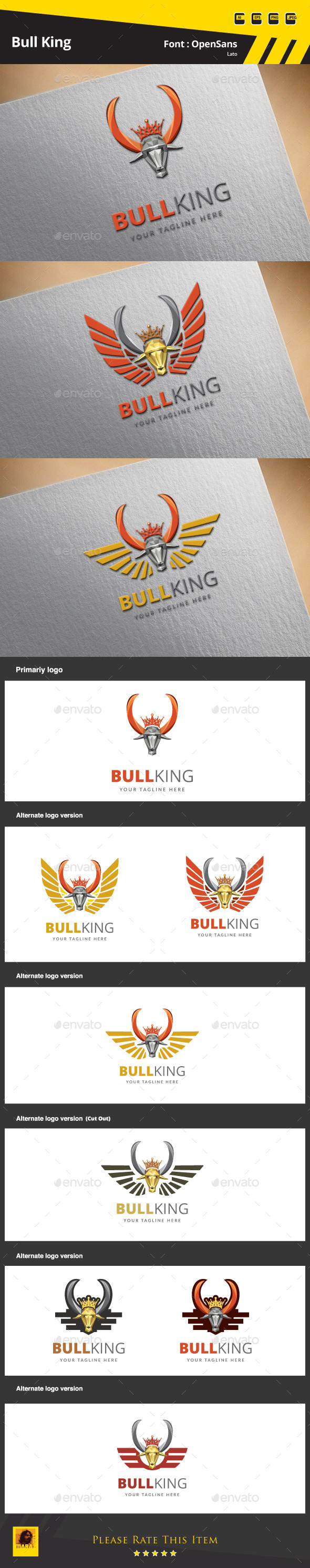 Bull King Logo Template