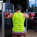 Deltoids fly machine man for shoulders workout - PhotoDune Item for Sale