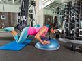 Bosu knees push up push-up woman at gym - PhotoDune Item for Sale