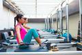 Pilates reformer workout exercises women - PhotoDune Item for Sale