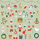 Set of Christmas Flat Graphic Elements - GraphicRiver Item for Sale