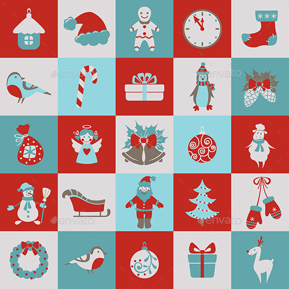 GraphicRiver Set of Christmas Elements 9702992
