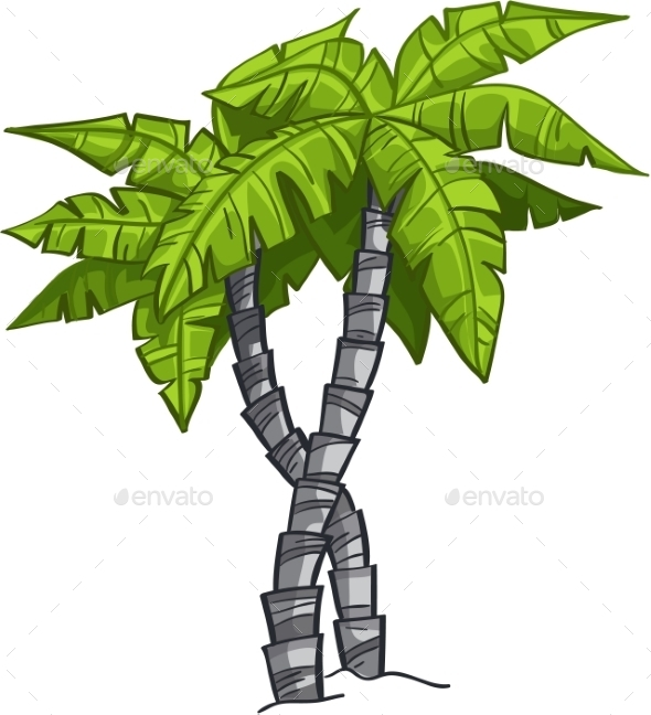 GraphicRiver Cartoon Banana Tree 9702998