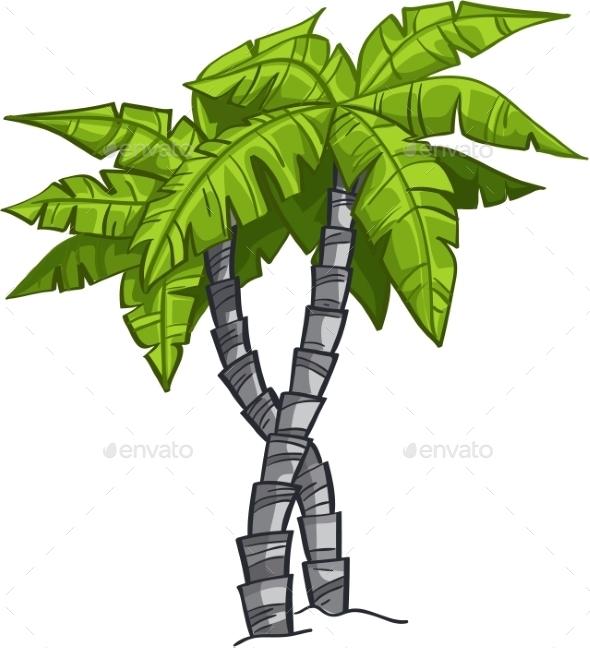 GraphicRiver Cartoon Banana Tree 9702998