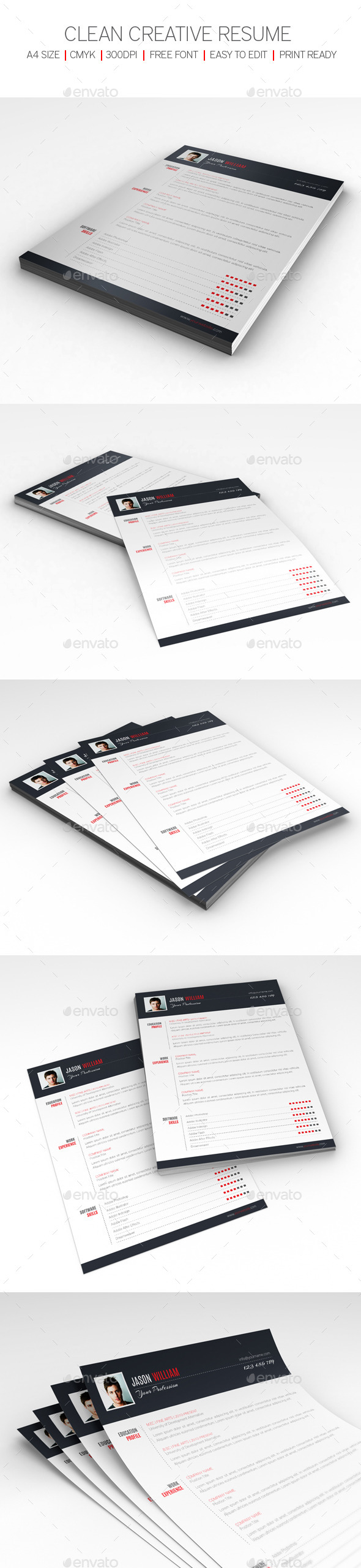 GraphicRiver Clean Creative Resume 9703002