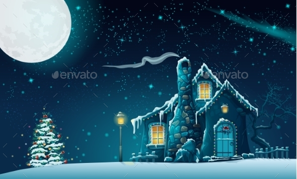 GraphicRiver Christmas Night 9703010