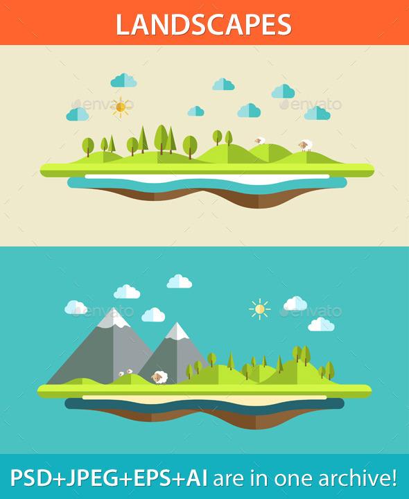 GraphicRiver Landscape Concept 9685448