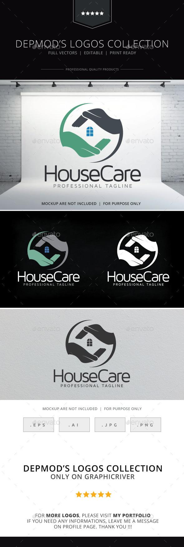 GraphicRiver House Care Logo 9703216