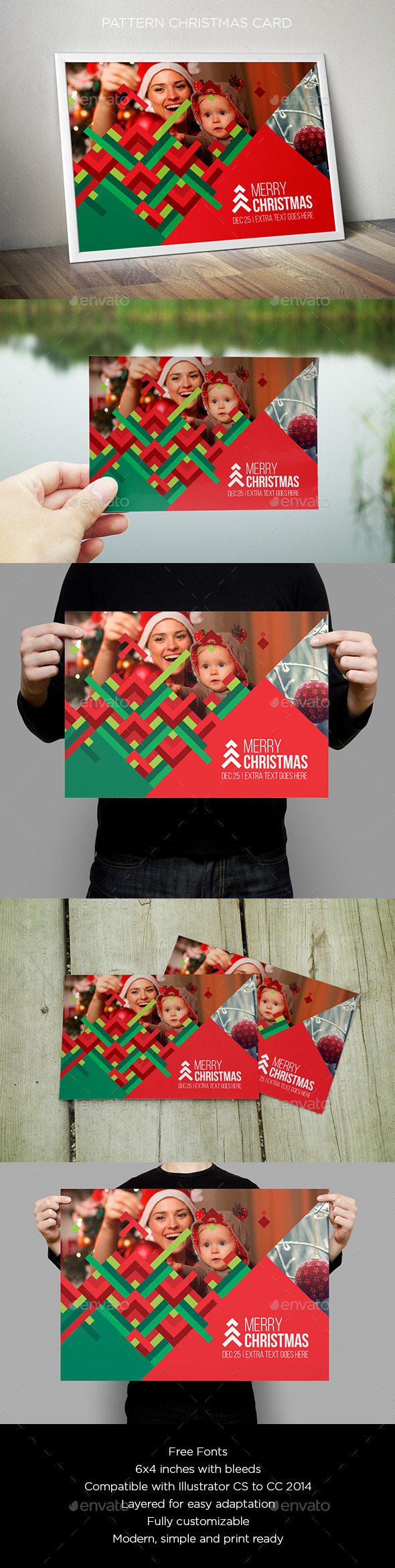 GraphicRiver Pattern Christmas Card 9658603