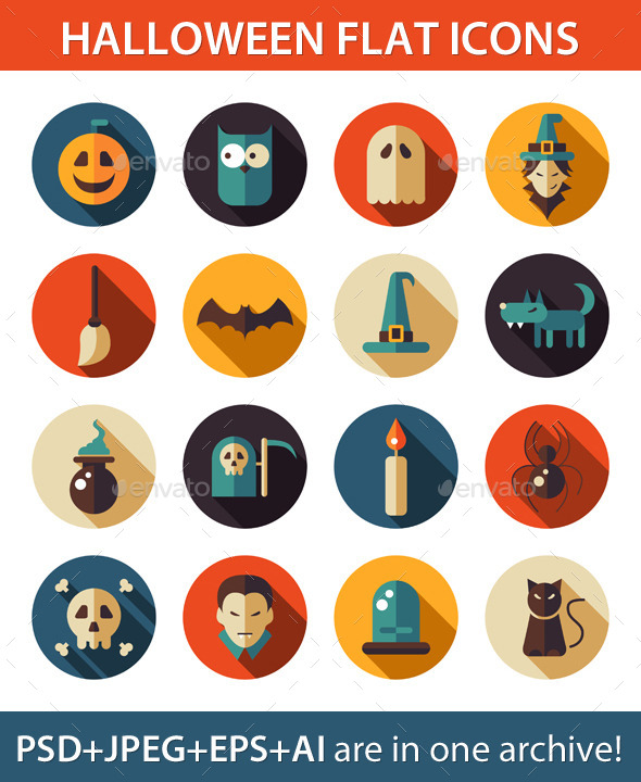 GraphicRiver Halloween Icons 9685238