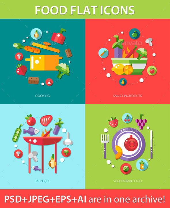GraphicRiver Fruit and Vegetable Symbols 9685183