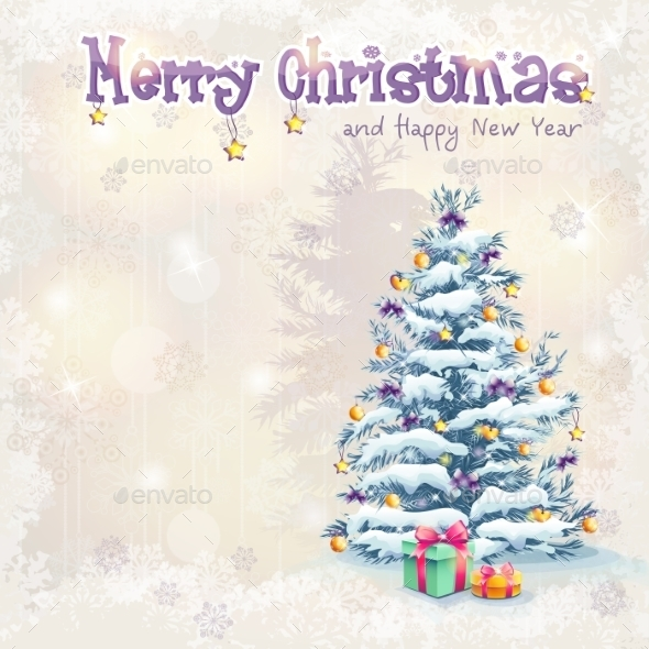 GraphicRiver Greeting Card for Christmas and New Year 9703490