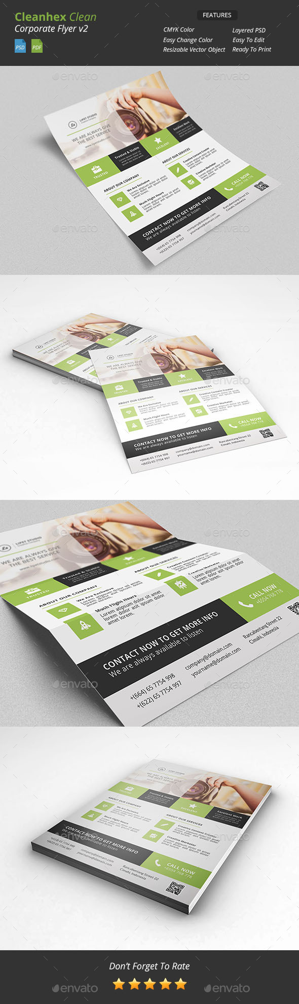 GraphicRiver Cleanhex Clean Corporate Flyer v2 9703569