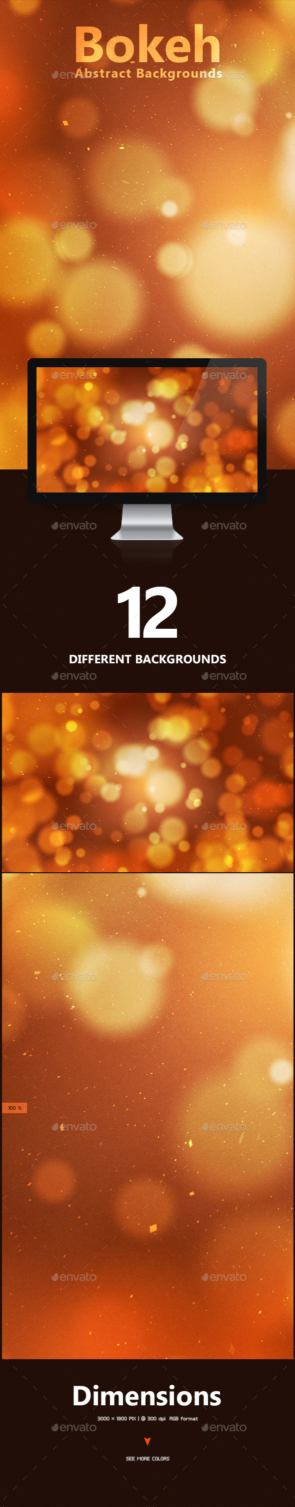 GraphicRiver Bokeh Abstract Backgrounds 9703687