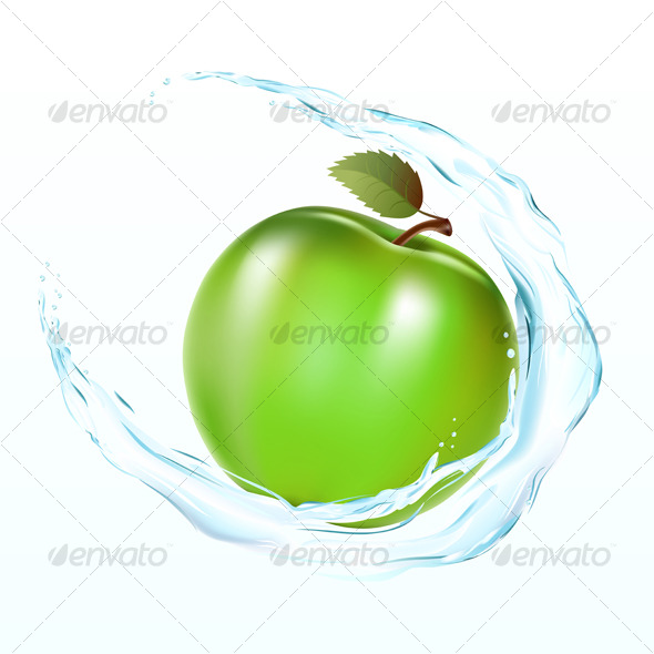 Apple with a wate