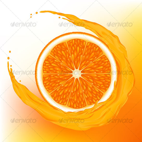 GraphicRiver Orange with a wave juice 123401
