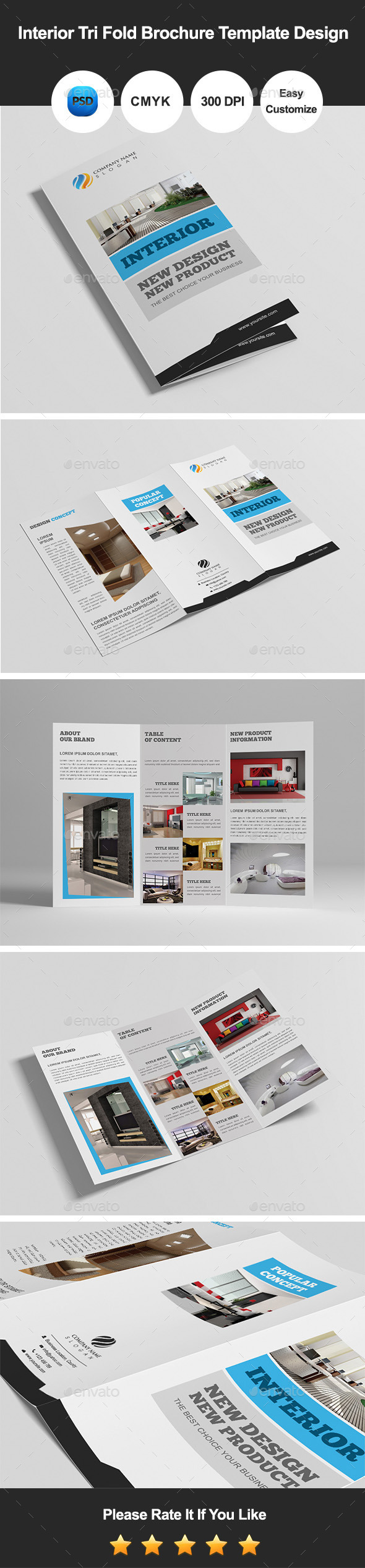 GraphicRiver Interior Tri Fold Brochure Template Design 9704278
