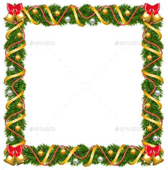 GraphicRiver Christmas Garland Frame 9704286