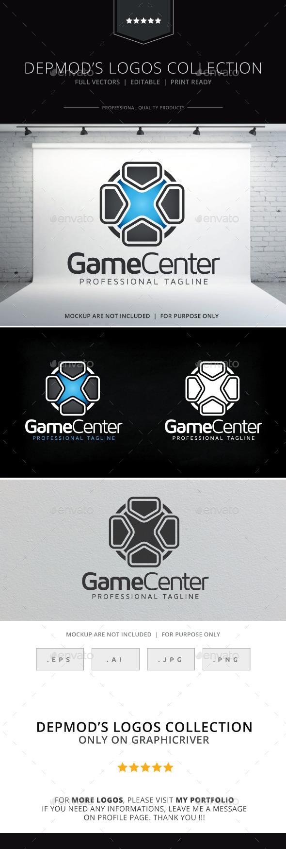 GraphicRiver Game Center Logo 9704287