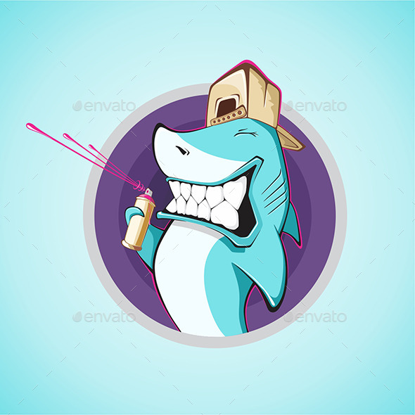 GraphicRiver Graffiti Shark 9667176