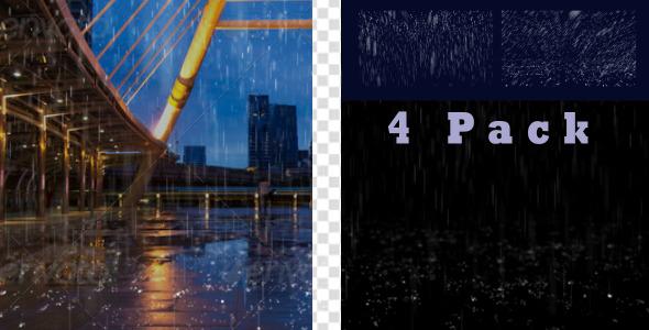 VideoHive Rain 4 Pack 9704890