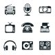 Black and White Vintage Device Icons - GraphicRiver Item for Sale