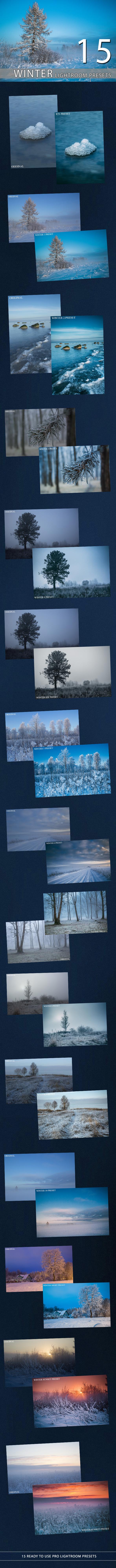 GraphicRiver 15 Winter Lightroom Premium Presets 9704954