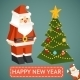 Vector Santa Claus and Christmas Tree Icons - GraphicRiver Item for Sale