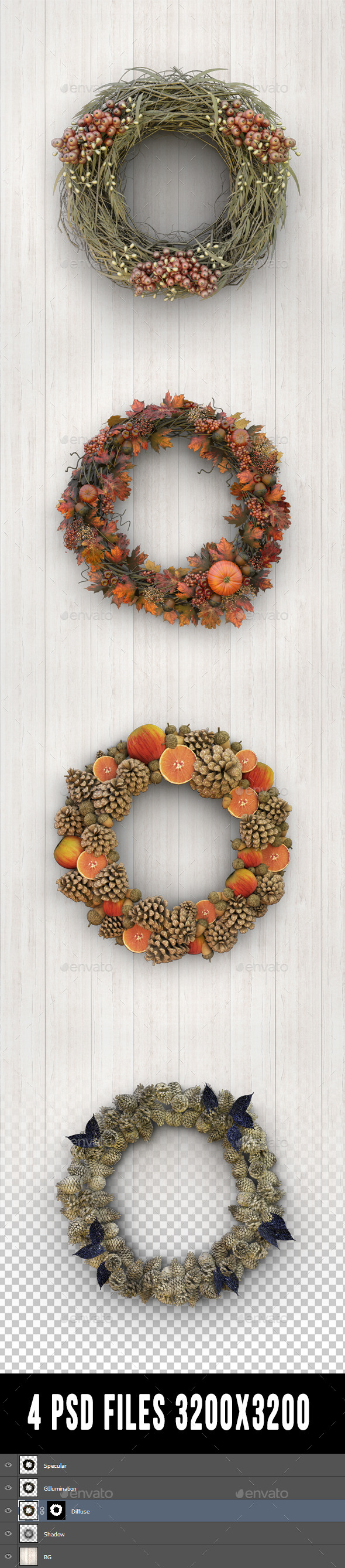 GraphicRiver Wreaths 9705012