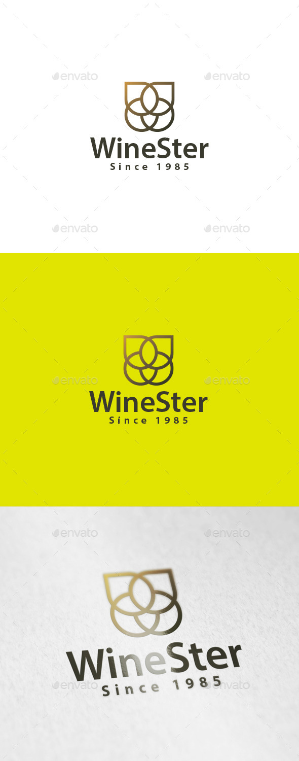 GraphicRiver WineSter Logo 9687403