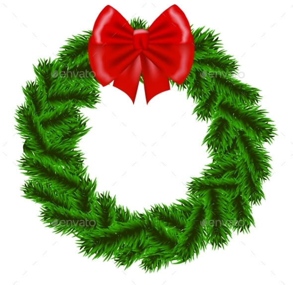 GraphicRiver Christmas Fir Tree Wreath 9705348