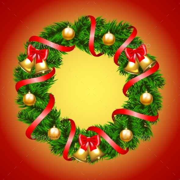GraphicRiver Christmas Fir-Tree Wreath 9705355
