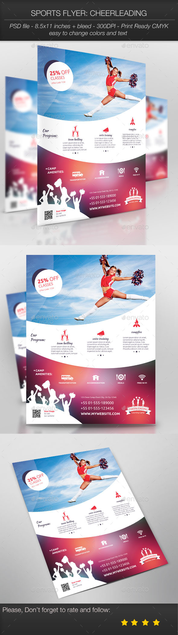 GraphicRiver Sports Flyer Cheerleading 9705413