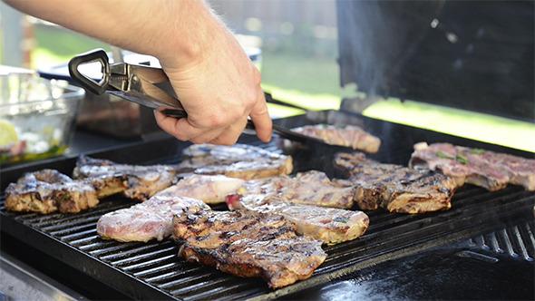 VideoHive BBQ Grilling Lamb Chops 9705519