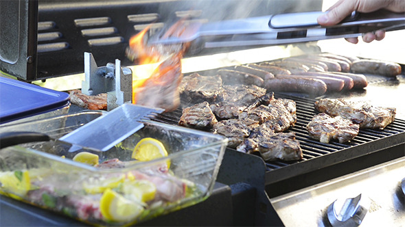VideoHive BBQ Grilling Meat 9705556