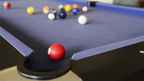 VideoHive Playing Pool on Pool Table 9705562