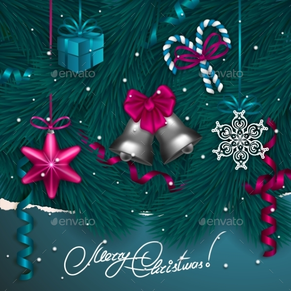 GraphicRiver Christmas Background 9705712
