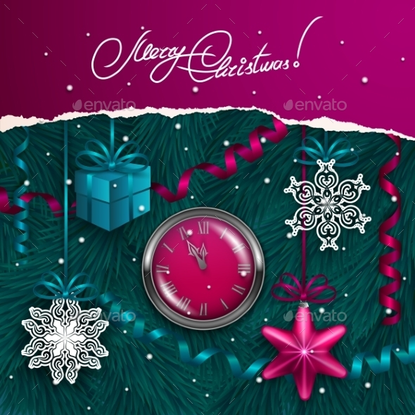 GraphicRiver Christmas Background 9705715