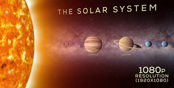 VideoHive The Solar System to Scale 9705768