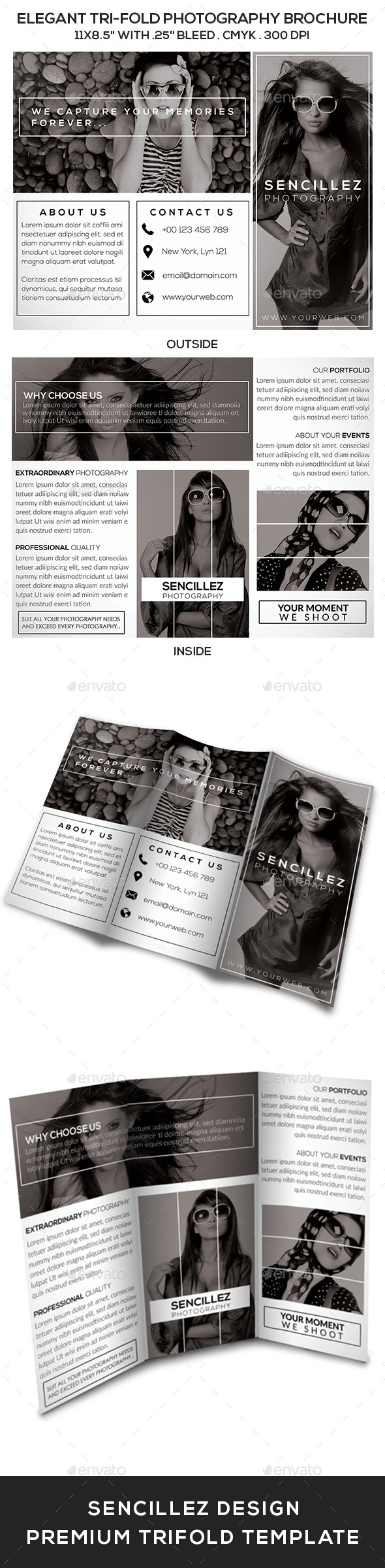GraphicRiver Elegant Tri-Fold Photography Brochure Vol 2 9705775