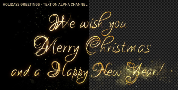 Christmas And New Year Elegant Handwriting Text
