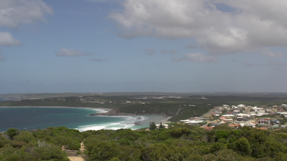 Pan From Rotary Lookout Great Ocean Drive Esperance Australia