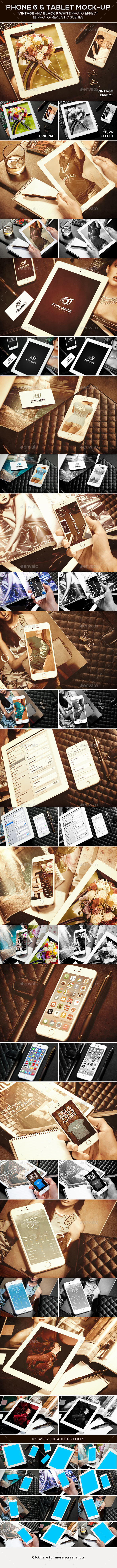 GraphicRiver Phone 6 and Tablet Mock-up 9705962