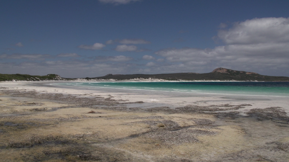 Pan From Lucky Bay Beach In Cape Le Grand National Park
