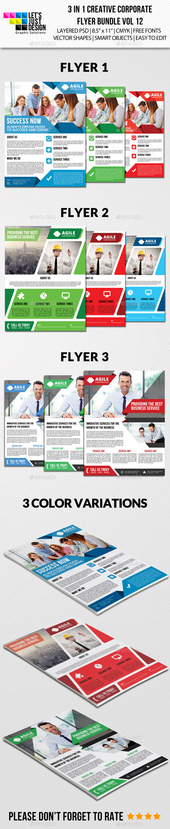 GraphicRiver Creative Corporate Flyer Pack Vol 12 9706064