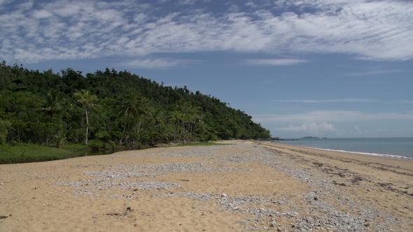VideoHive Mission Beach Empty Beach Pan In Queensland Australia 9706067