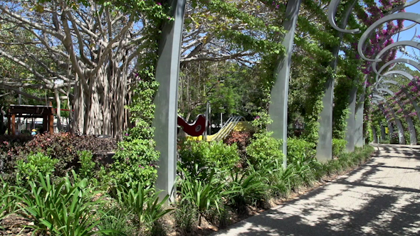 VideoHive Promenade In South Bank Parklands In Brisbane 9706111